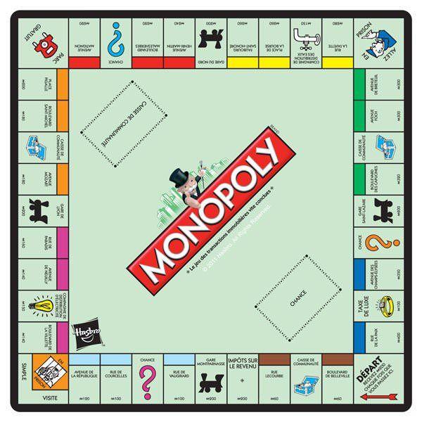 Tapis de souris Monopoly plateau de jeu, original comme cadeau Nintendo :) #logostore #monopoly