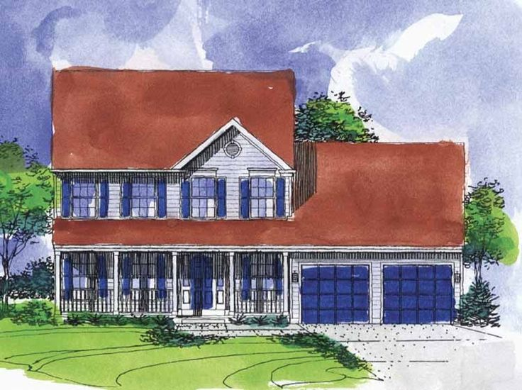 narrow lot house plans with side load garage lot home