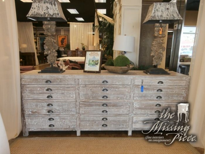 Oversized apothecary cabinet constructed of reclaimed elm timbers and features antique drawer pulls. You will have to decide if you love it more in your living room or bedroom.  You can't go wrong. Measures 90.5*19*35.