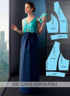 Bir yay ile Desen uzun elbise