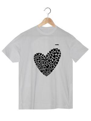 Camiseta en algodón orgánico en blanco para chico Valentina   www.strambotica.es