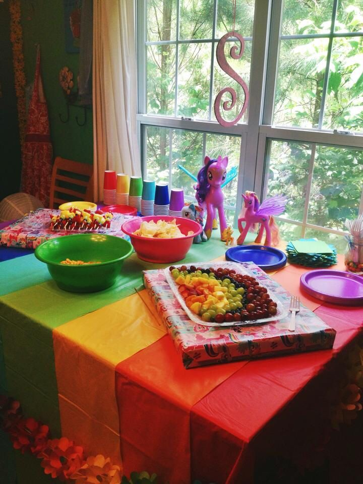 my little pony birthday party table cover