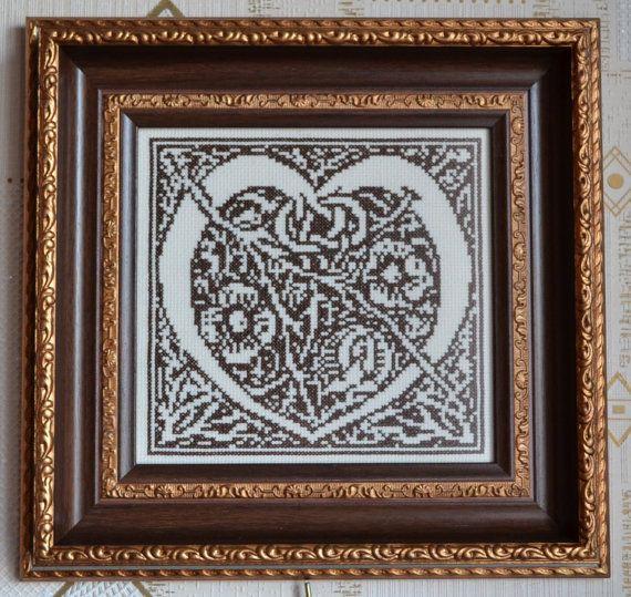 Celtic wall art decor  Celtic heart cross stitch by LoveAngelDecor
