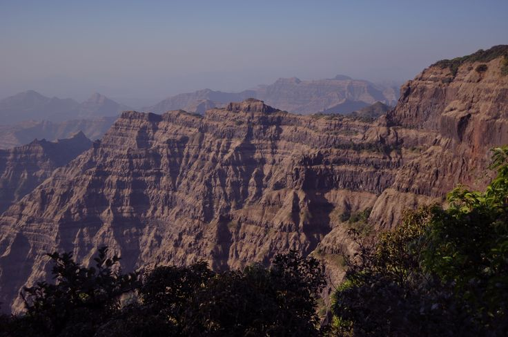 The Deccan Traps form steep cliffs in western India. New Dates Tie Volcanic Flood to Dinosaur Extinction