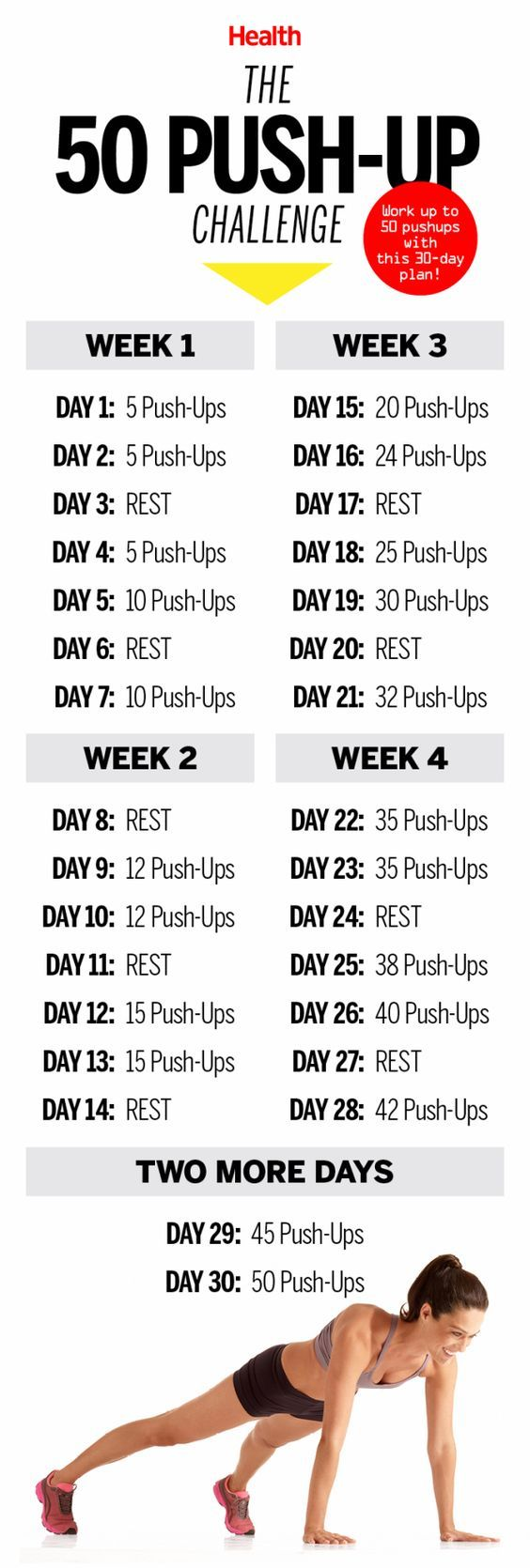 This 50 Push-Up Challenge Will Transform Your Body in 30 Days | Body Health