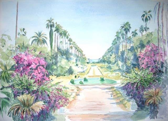 26 best images about peinture jardin d 39 essai alger on for Le jardin tino rossi