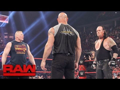 Brock Lesnar goes face-to-face with Goldberg and The Undertaker: Raw, Jan. 23, 2017 - http://LIFEWAYSVILLAGE.COM/korean-drama/brock-lesnar-goes-face-to-face-with-goldberg-and-the-undertaker-raw-jan-23-2017/