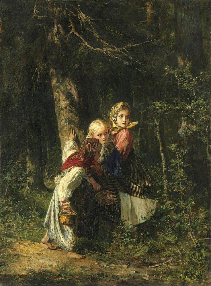 AlexeyKorzukhin.  Peasant Girls In Forest_2