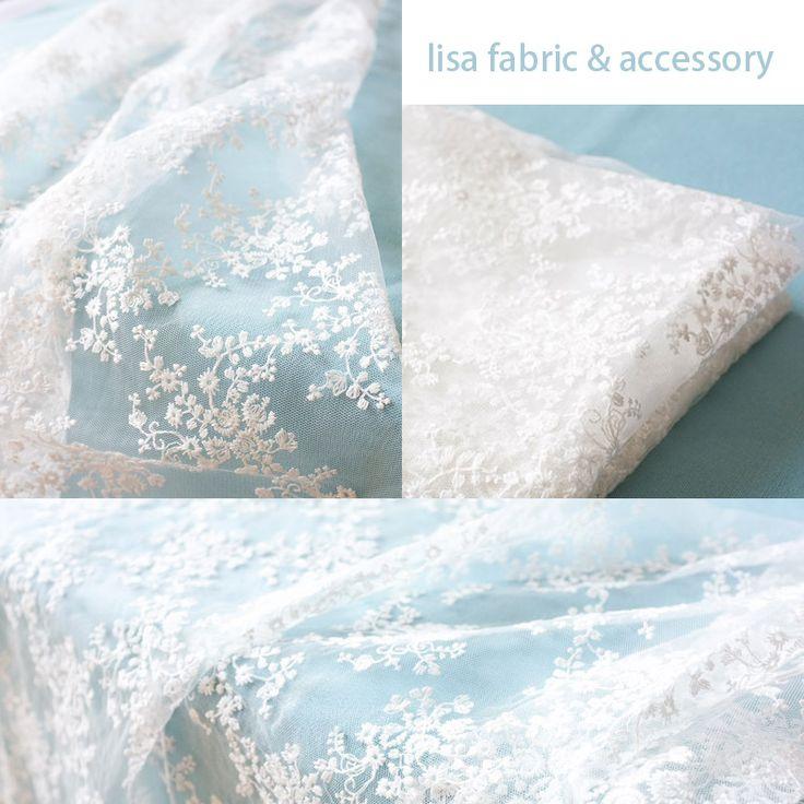 Import výšivky dutý z bavlny hedvábné látky Pletené látky tkaniny květové šaty krajky tento bílý šaty oblečení