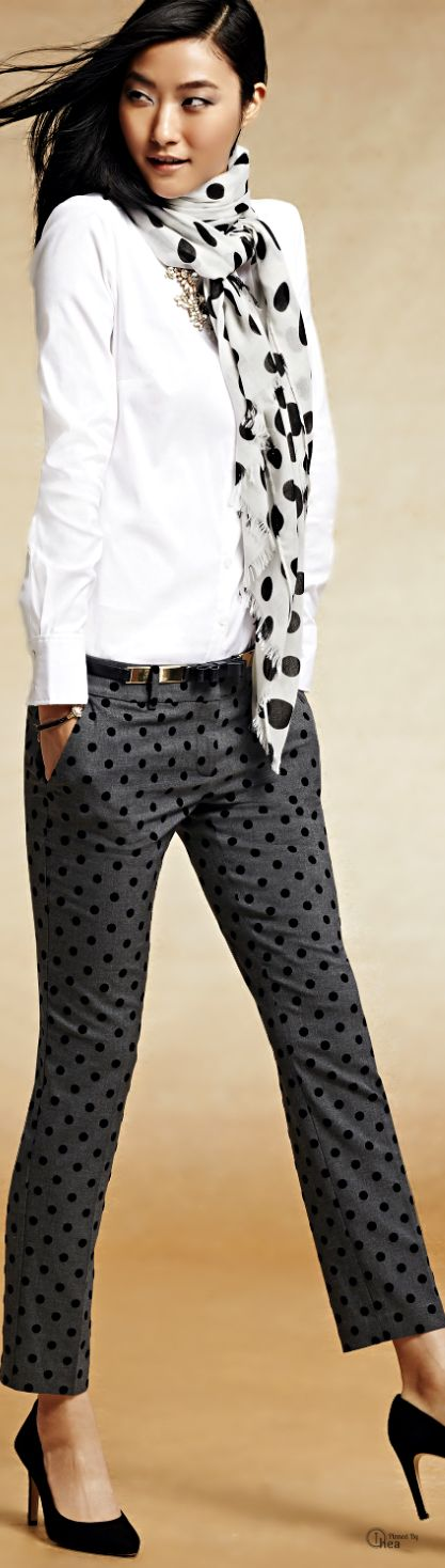 I love these polka dot pants