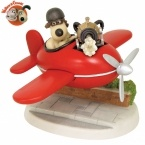 NEW! Gromit in the Aeroplane 'A Close Shave' - Limited Edition 1,000 - Wallace & Gromit Figurine / Statue