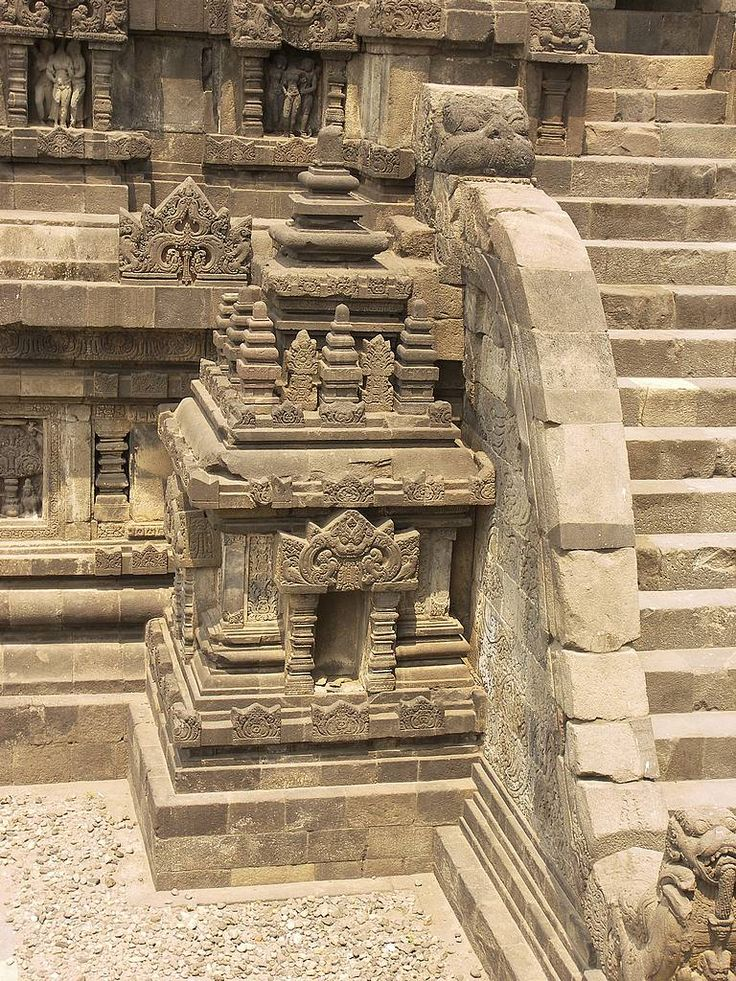 Beautiful Prambanan Stairs. Javanese Culture, Indonesia - SouthEast Asia