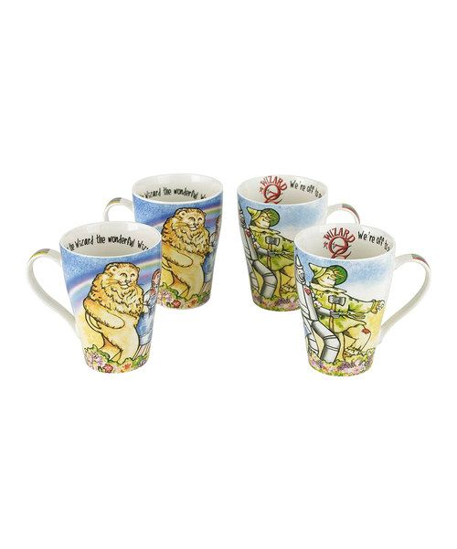 Take a look at the Wizard of Oz 15-Oz. Bone China Mug - Set of Four on #zulily today!