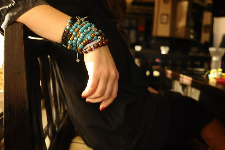 Lovely turquoise bracelets. Handmade with love by Maria's Ladybugs. For more of these beauties, like our Facebook page - www.facebook.com/mariasladybugs