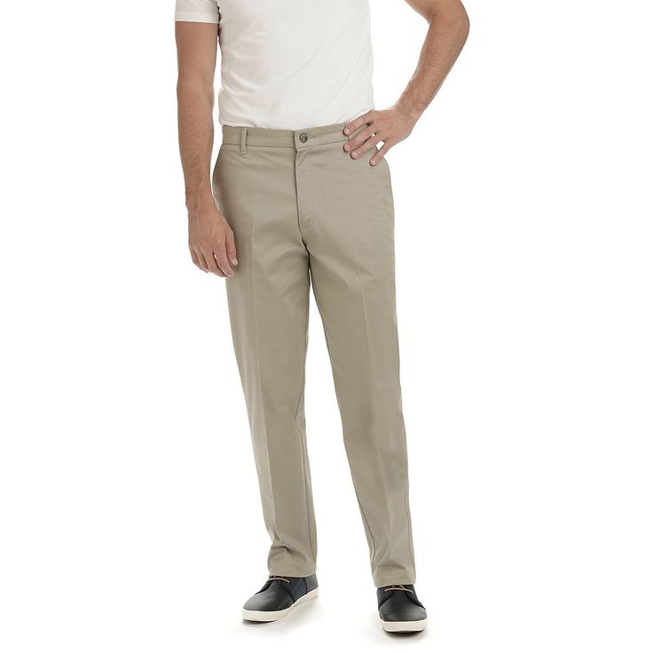 Men's Lee Carefree Straight-Fit Stretch Khaki Pants, Size: 38X32, Lt Brown