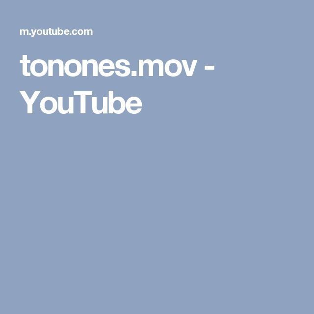 tonones.mov - YouTube