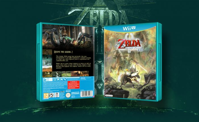 The Legend of Zelda: Twilight Princess HD by El Dango Wii U box art cover >> front cover is all right, back cover needs a bit more work.
