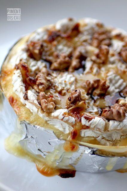 Camembert Roti au miel et noix