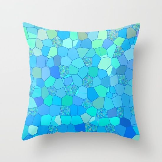 Berzerk Berry Blue Throw Pillow