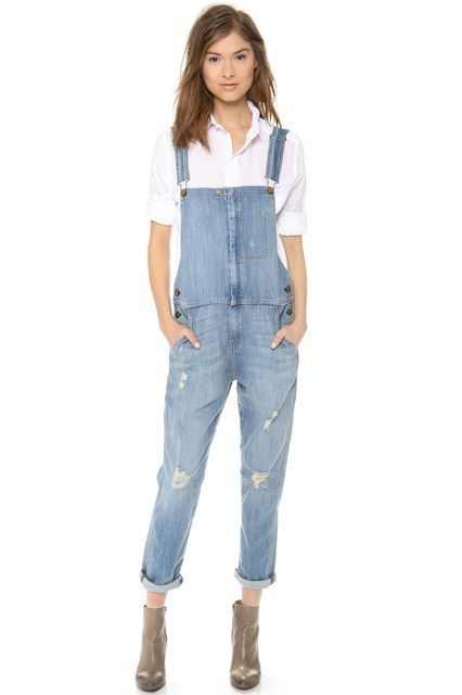 The Tomboy Way To Do Throw-On-&-Go #refinery29  http://www.refinery29.com/overalls#slide-16