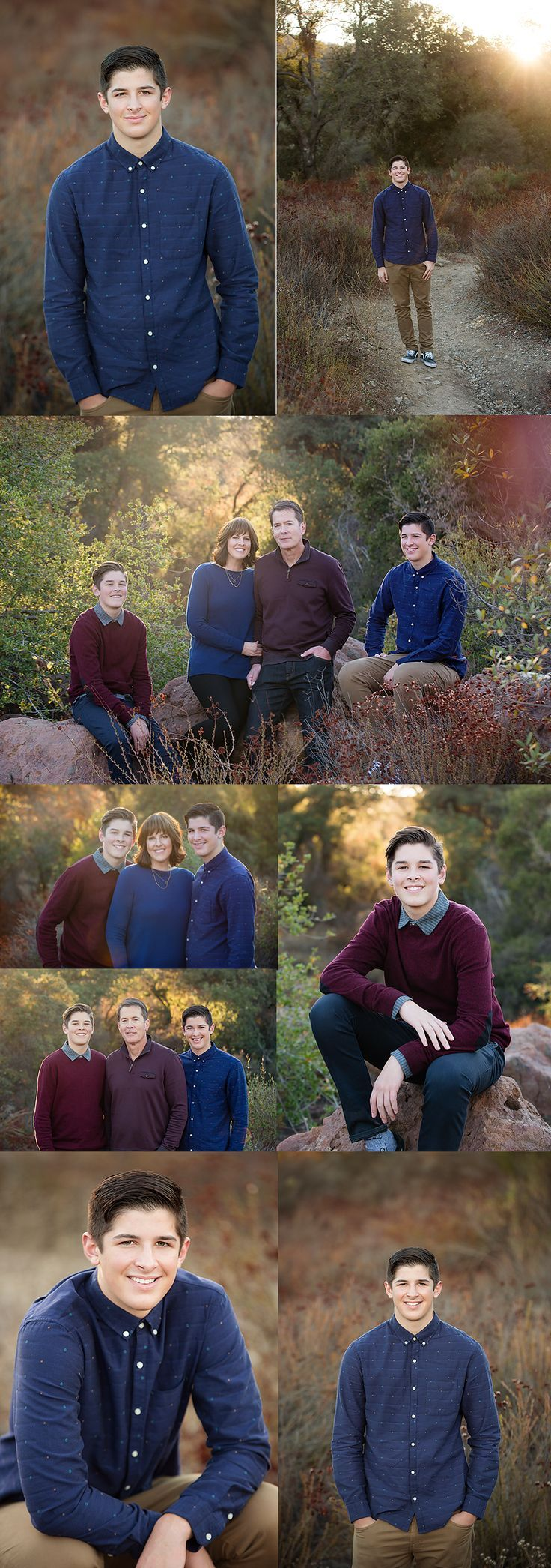 Photo Session Poses for a family with teenagers | Ventura County Family Photographer