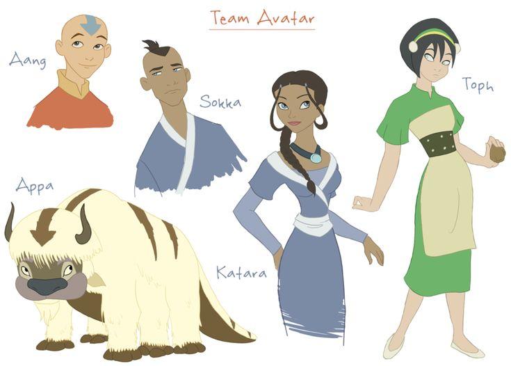 Team Avatar - Disney Style by julvett.deviantart.com on @deviantART