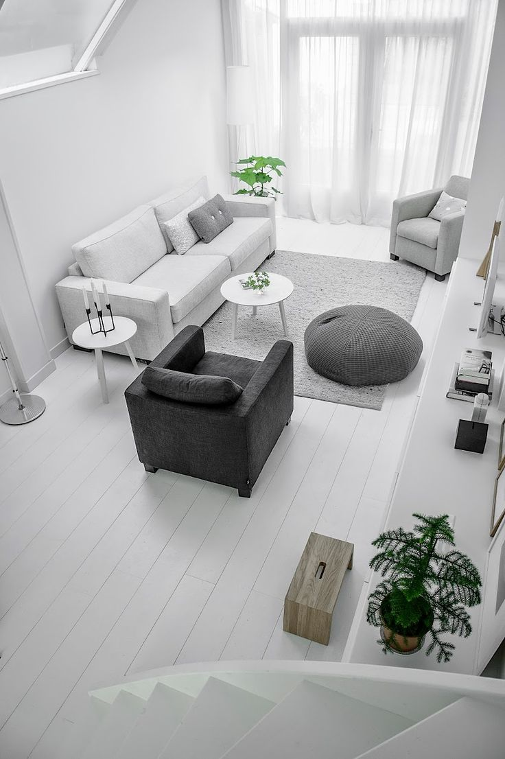 A calm white and grey apartment in Delft