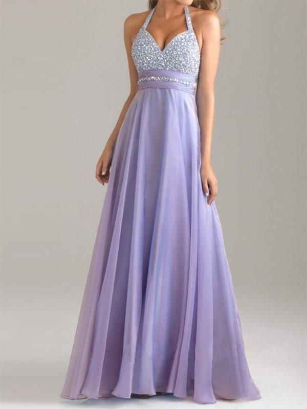 ae64ce69090c New Lilac Purple Patchwork Sequin Draped Backless Halter Neck Flowy Elegant  Bridesmaid Maxi Dress