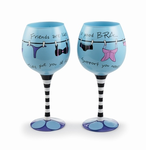 Hand Painted Wine Glass. Comes in a decorative gift package w/bow!