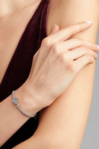 Brooke Gregson - Orbit 14-karat Gold, Sterling Silver And Labradorite Bracelet