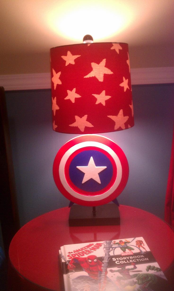 Superhero Lamp Captain America Lamp Boy Bedroom Decor