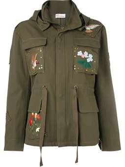куртка в стиле милитари с вышивкой