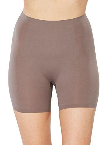 SPANX Trust Your Thinstincts Medium Control Targeted Short, M, Umber Ash:   Get comfortable control with this targeted shaping short, Thanks to medium control shaping you'll look and feel your best. Slim down your waist with built-in targeted tummy control panel, Smoothes and shapes hips, thighs, and rear also. Bonded waistband for a sleek, no-bulge transition to skin SPANX, Style Number: 10005R.