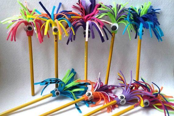 Insieme di Topper matita mostro di quattro feltro matita