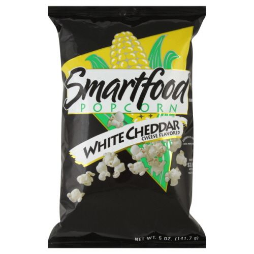 Smartfood White Cheddar Popcorn!!! Love this they have individual 100cal bags for snack!