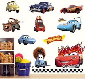 Disney Cars 28pcs Wall Stickers Boys Room Decor Nursery