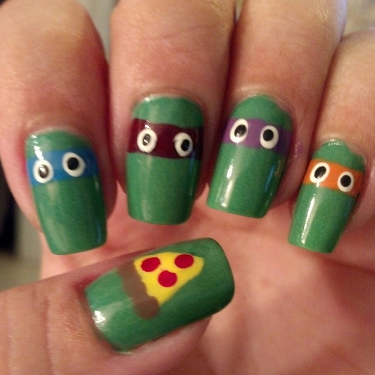7 best Nails images on Pinterest | Ninja turtle nails, Teenage ...