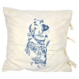 "Add exotic appeal to your decor with this cotton cushion cover, artfully block-printed by hand.  Product: Cushion coverConstruction Material: 100% CottonColor: IndigoFeatures:  Hand-blocked designInsert not included Dimensions: 26"" x 26""Cleaning and Care: Hand wash cold, tumble dry low. Steam iron if needed."