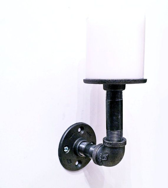 Candle holder wall sconce candle stand pillar by IronIllumination