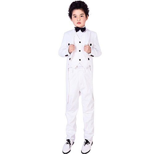 f5fc34473 XoMoFlag Boys  Evening Formal Suit Wedding Dress Coat Tails Ring ...