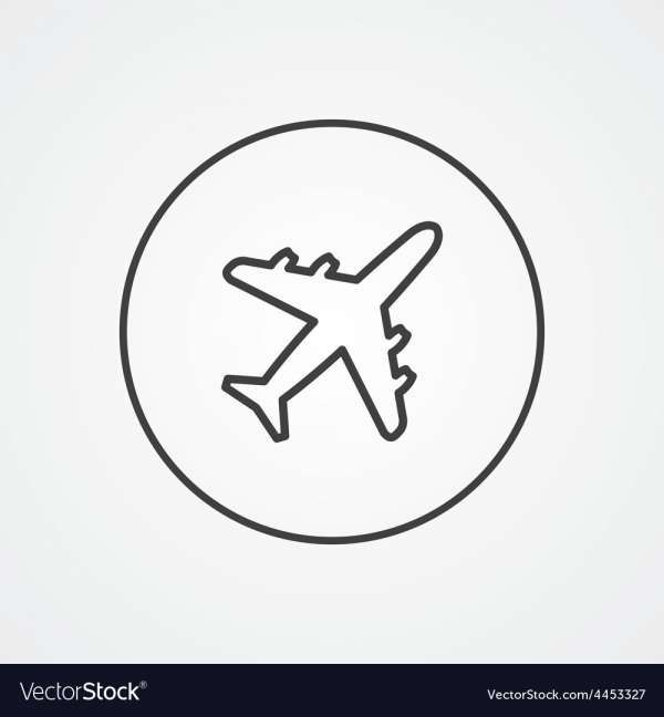18 Airplane White And Black Border Png Icon Png Icons Airplane Icon Airplane Outline