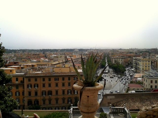View of Rome from Vatican Museums