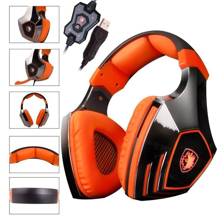 Original SADES A60 Game Headset Vibration Function and 7.1 Surround Sound Professional Headphone Earphone Black-Blue