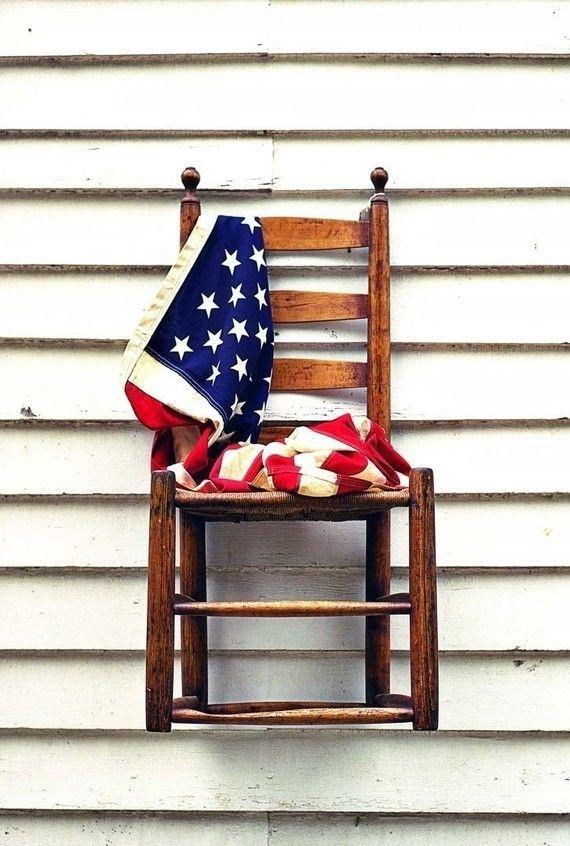 American Flag Photography, Still Life, Americana Art, Memorial Day,  Patriotic Print   American Chair   Fine Art Photography