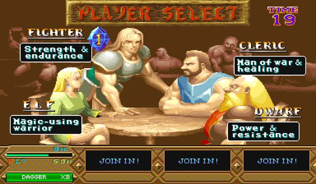 Dungeons & Dragons: Tower Of Doom | 12 Classic Character Select Screens To Make You Long For The Arcade