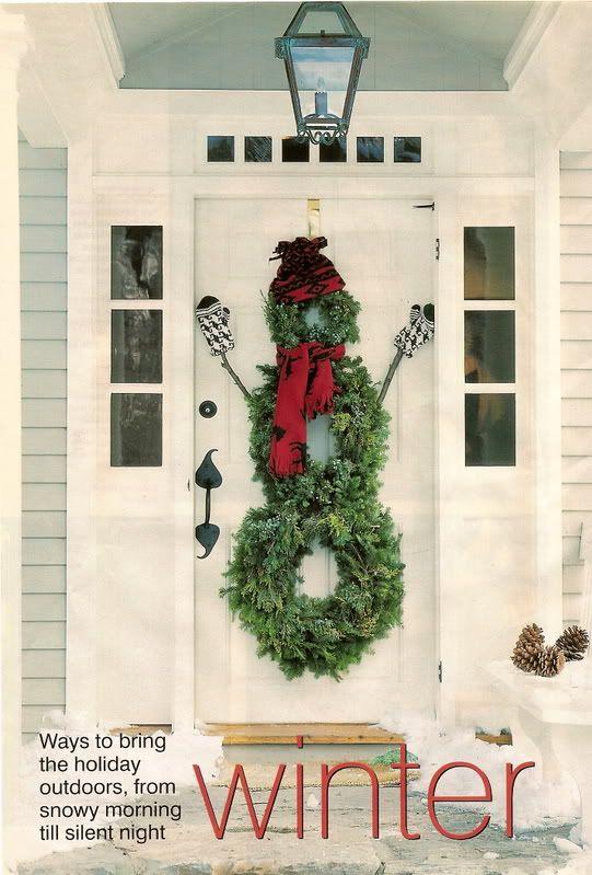 Snowman made of wreaths