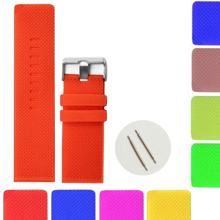 Cinghie a nastro 28 millimetri Top colore arancione della gelatina del silicone gomma unisex WB1079H28JB