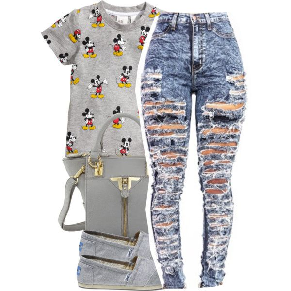 Untitled #1387 by ayline-somindless4rayray on Polyvore featuring polyvore, fashion, style, H&M, TOMS and Danielle Nicole
