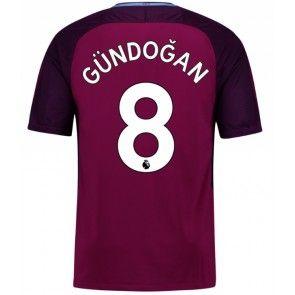 Manchester City Ilkay Gundogan 8 Venkovní Dres 17-18 Krátký Rukáv