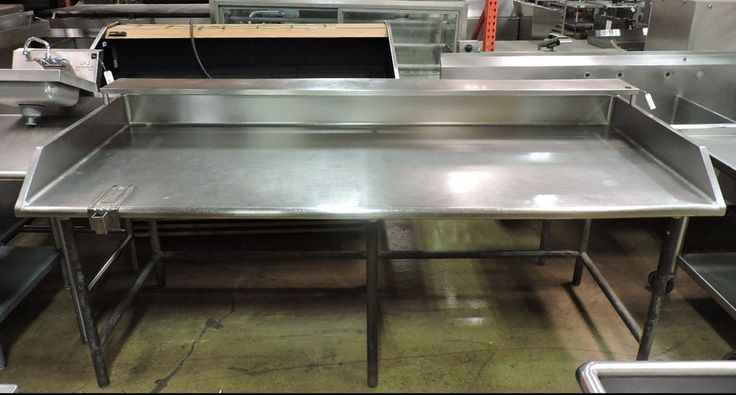 Commercial Stainless Steel Work Table w/ Splash & Shelf